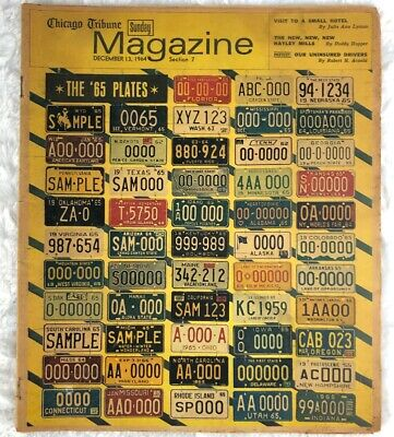RARE Chicago Tribune Sunday Magazine December 13 1964