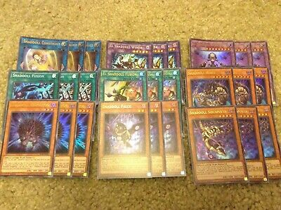 HIGH RARITY SHADDOLL CORE + EXTRA DECK | DUPO SHVA BLHR x3 Playsets 1st edition
