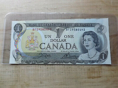 Bank Of Canada 1973 $1.00 Note Out Of Registered Uncirculated