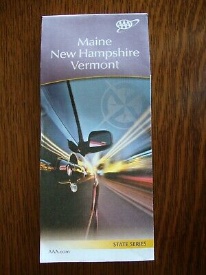 AAA MAINE ME / NEW HAMPSHIRE NH / VERMONT VT STATES Travel Road Map 2019-2020