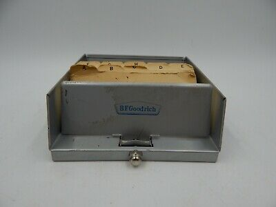 BF Goodrich Vintage Advertising Metal Rolodex Tarco