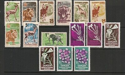 Spain Tangier Telegraphs Work Charity Stamps Mint Hinged