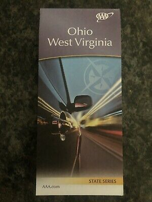 AAA OHIO & WEST VIRGINIA Travel Road Map USA States Vacation Roadmap 2019-2020