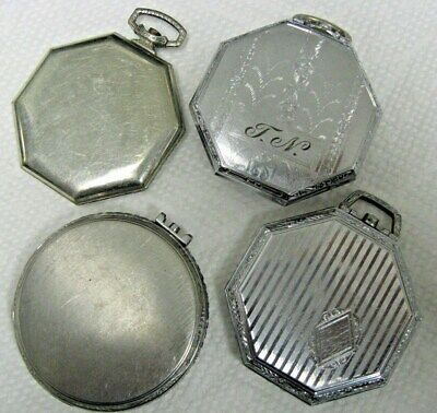 POCKETWATCH CASES 4 Pieces- 12 Size Lot
