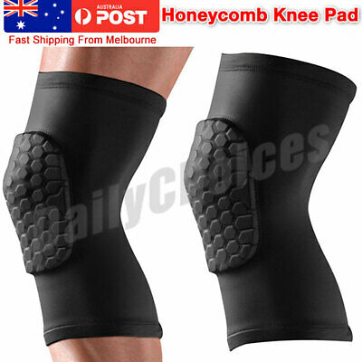 Leg Long Sleeve Protector Support Brace Honeycomb Pad Basketball Knee Crashproof