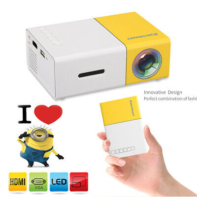 2019 Mini Pocket LED Home Cinema Projector HD 1080P Portable Theater HDMI USB AU