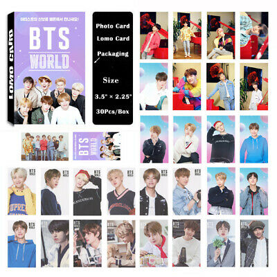 1Box/30PCS KPOP Bangtan Boys Album WORLD OST Lomo Card Photo Card Poster