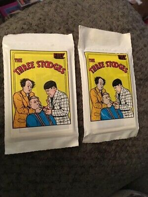 The Three Stooges Trading Cards (2) Sealed Packs Series 2 Moe,Larry,Curly 1989