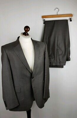 Gieves And Hawkes Mens Suit Size 42 Saville Row Rrp £995 Pinstripe Grey