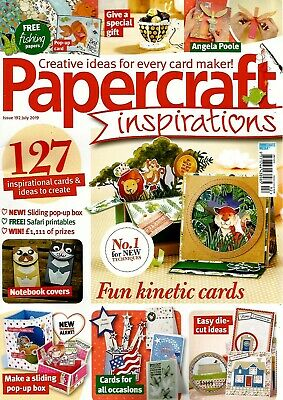 Papercraft Inspirations  Magazine Issue 192  July  2019.    Free Gift