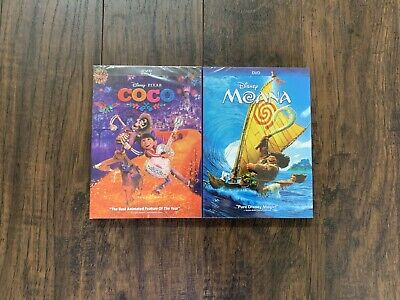 Coco and Moana DIsney DVD Brand New Free Shipping