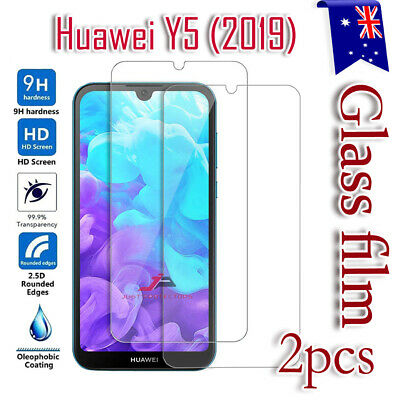 2X Huawei Y5 2019 Tempered Glass Screen Protector Scratch Resist Film Guard