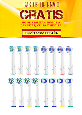 Recambios Cepillo Dientes Compatible Oral B 3d White CrossAction 16 Cabezales