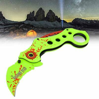 Outdoor Portable Foldable Knife Hunting Climbing Camping Survival Claw Karambit