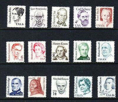 United States - 1980-1985 - mnh Famous Americans issue