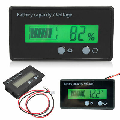 LCD 12V/24V/48V Lead-Acid Battery Status Voltage Voltmeter Monitor Meter Car UK