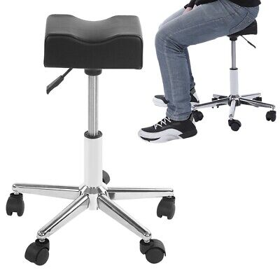 5Wheels Adjustable Height SPA Chair Pedicure Stool for Nail Hair Facial Artists