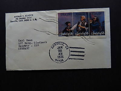Cover United States USA Danville Spirit of 76 Complete to Germany 1976