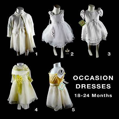 Baby Girls Christening Baptism Wedding Party Occasion Dress Gown18-24M