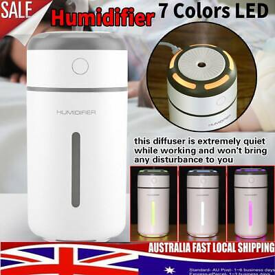 Car USB Ultrasonic Air Humidifier Essential Oil Aroma Diffuser Aromatherapy