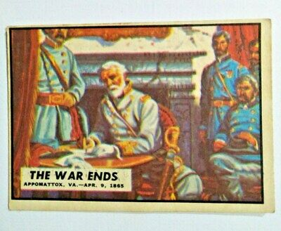 "1965 Civil War News Card # 87 "" The War Ends """