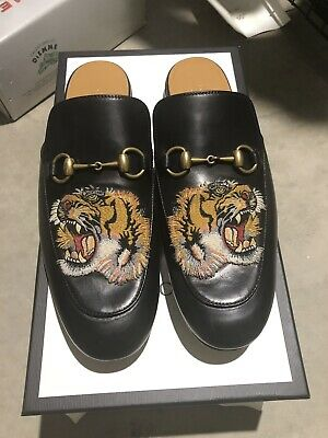 b55125b19 Gucci Princetown Horsebit Tiger Loafers Slides Slippers. Size 8.5 Eu42. Mens