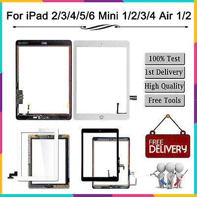 Touch Screen Digitizer Replacement For Apple iPad 2/3/4/5/6 Air Mini-Grade AAA