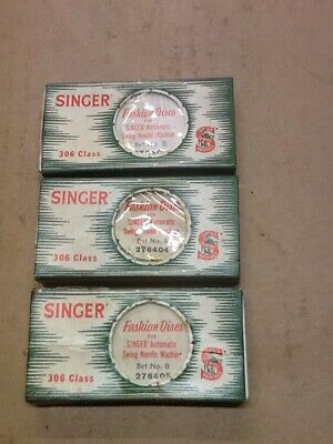 Singer sewing machine Fashion Discs for Swing Needle Machine Sets. 2, 5 and 6.
