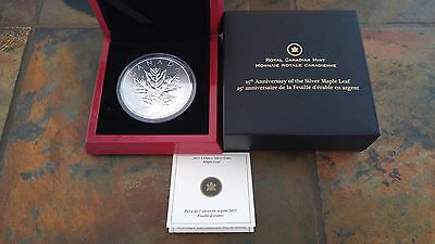 2013 5oz $50 .9999 Silver Coin - 25th Anniversary of the Silver Maple Leaf
