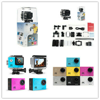 4K HD WiFi Sports  Waterproof Action Camera H9 Various accessories  7 Colors