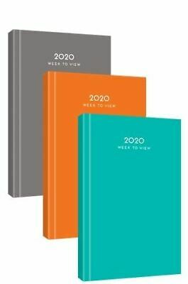 2020 A5 Week to View Diary Hard Back Case Bound Office Work Year Planner