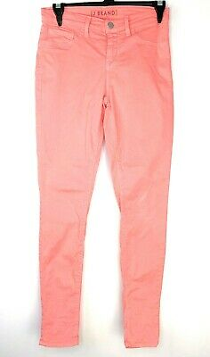 J Brand Jeans Womens 26 Coral Pink Skinny Leg Pants Trousers Ladies USA Made L30