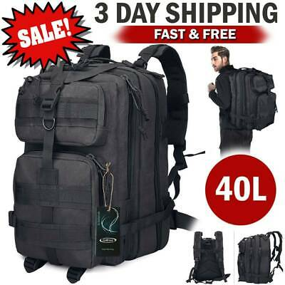 Large Military Tactical Backpack Army Bag Hiking Pack Molle Duty Gear Bug Out