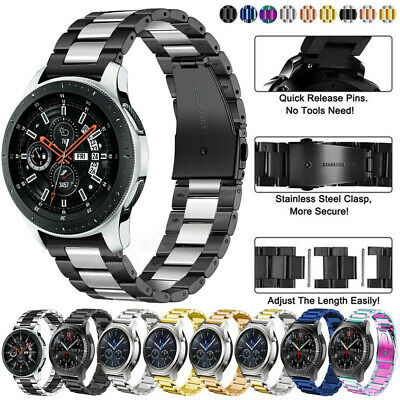 Stainless Steel Strap Watch Band For Samsung Galaxy 42/46mm/Gear S2 S3 Huawei GT
