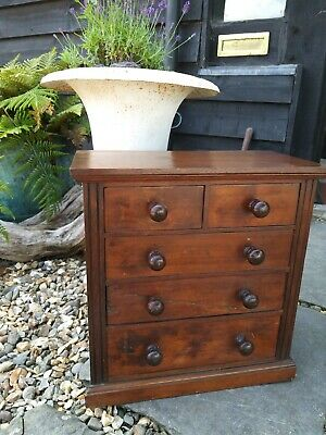Antique Edwardian Miniature chest Of Drawers Apprentice Piece