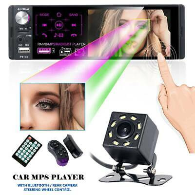 """4.1"""" Single 1 DIN Car MP5 Player Bluetooth Touch Screen Stereo Radio+Camera'"""