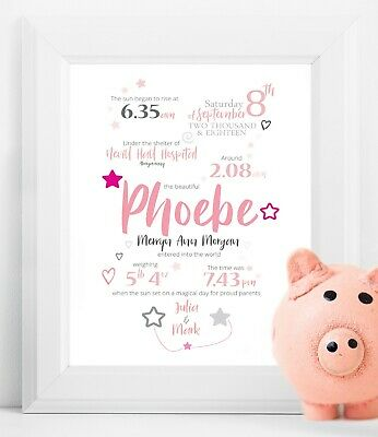 Personalised Baby Details Print - A Birth Story - DIGITAL or PRINT - GIFT