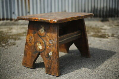 19th century Folk art stool