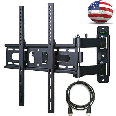 Full Motion Wall TV Mount VESA Bracket 17 32 50 55 inch LED LCD Flat Screen