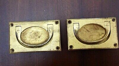 Pair Of Brass Inset Handles