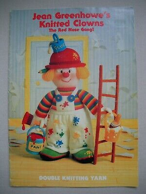 Jean Greenhowes - Knitted Clowns - Toy Knitting Pattern Book