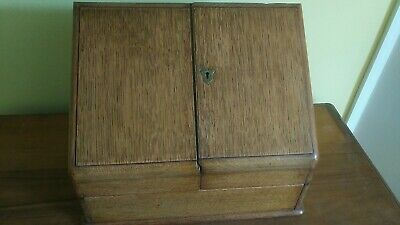 Antique Wooden Writing Stationery Box/Slope