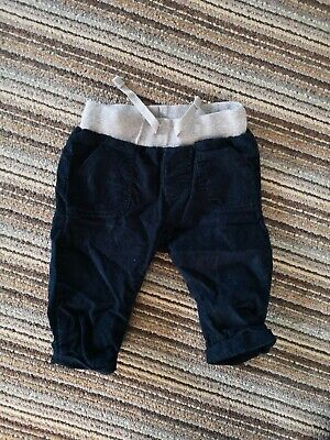 M&S marks and Spencer Cord Joggers Age 3-6m