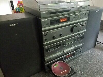 Sony Stereo HiFi System Tuner / Amplifier / CD Player / Tape