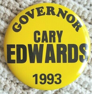 New Jersey Campaign Button from 1993 Cary Edwards for  Governor