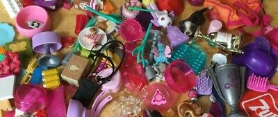 Lot Of Barbie Doll Accessories Food Items, School, Household W 2 FREE Dolls