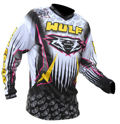 Wulfsport Arena Race Shirts White Motorbike Motocross MX Leisure Wear