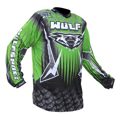 Wulfsport Arena Race Shirts Green Motorbike Motocross MX Leisure Wear