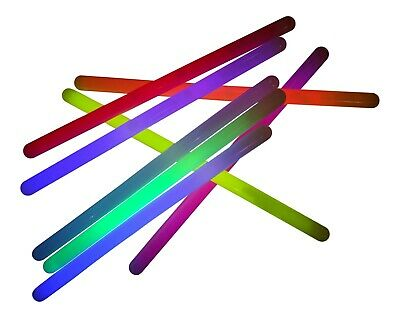 12 Inch x 15mm Neon Glow Sticks Mixed Tubes - Disco, Party, Rave