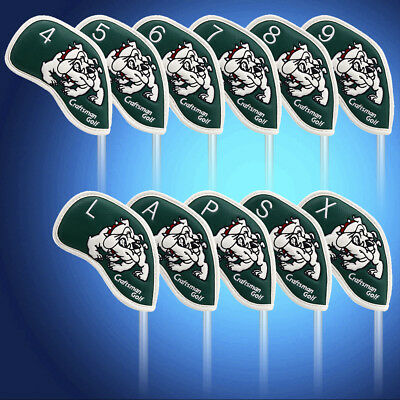 US Stock Annimal 11pcs Iron Head Covers Set For Taylormade Titleist Callaway
